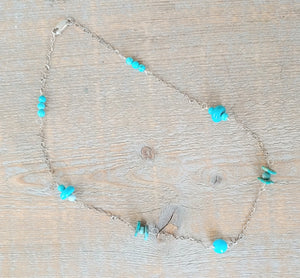 Turquoise and Chain Necklace