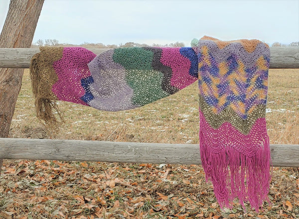 Winter Wave Shawl