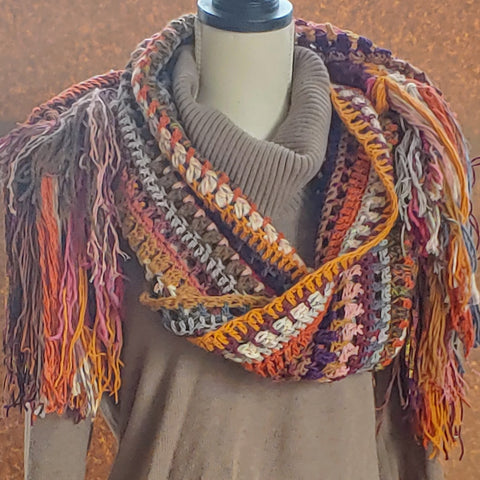 Dusty Jewels Shawl