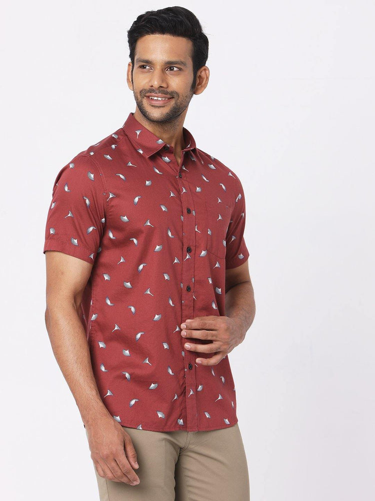 Load image into Gallery viewer, Men's Rosewood Pollen Petal Print Shirt