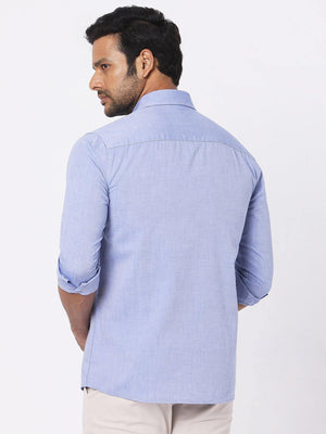 Men's Blue Oxford Chambray Shirt