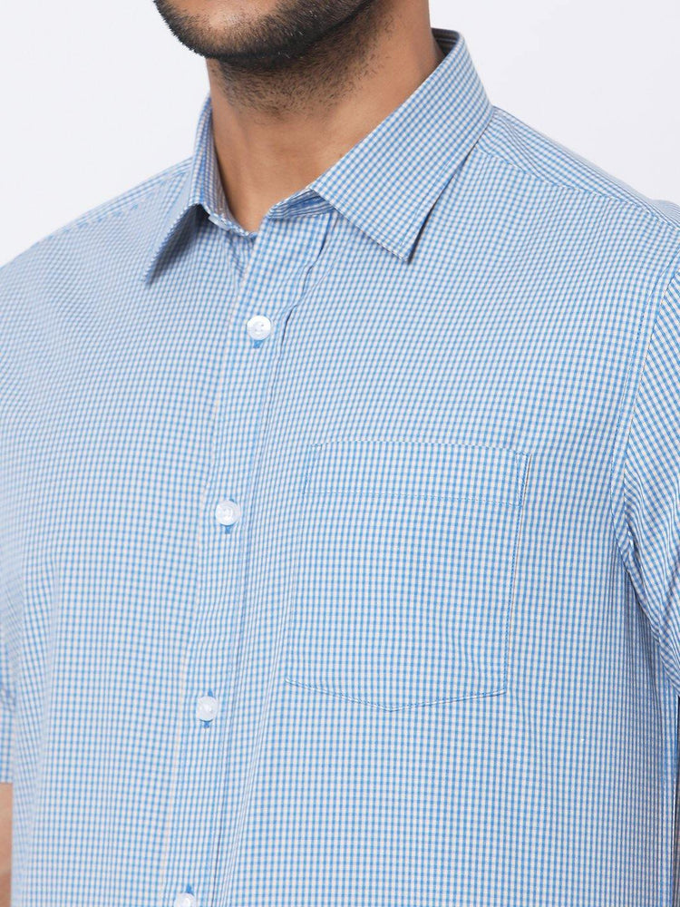 Load image into Gallery viewer, Men's Checks Half Sleeves Shirt