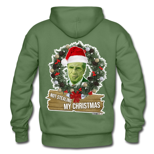 Christmas Grinch Hoodie - military green