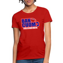 Load image into Gallery viewer, Ban Cuomo Women's T-Shirt - red