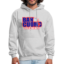 Load image into Gallery viewer, Ban Cuomo Men's Hoodie - ash