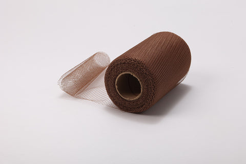 Brown Nylon Netting Fabric