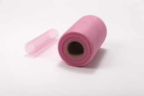 Dusty Rose Pink Nylon Netting Fabric