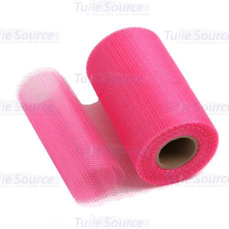 American Beauty Pink Nylon Netting Fabric