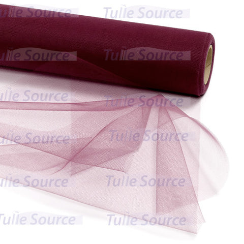 Wine (Burgundy) Tulle Fabric