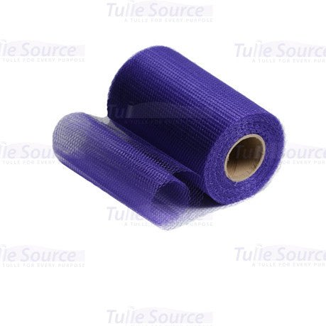 Deep Purple Nylon Netting Fabric