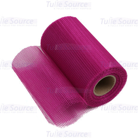 Fuchsia Nylon Netting Fabric