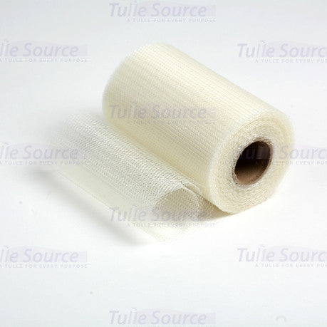 Ivory Nylon Netting Fabric