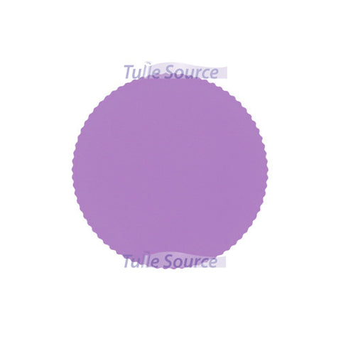 Scalloped Tulle Circles in Lavender