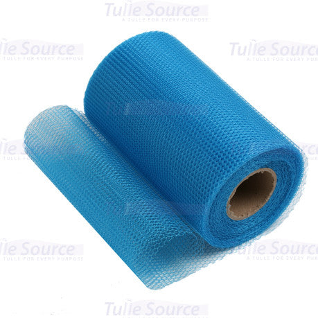 Peacock Blue Nylon Netting Fabric