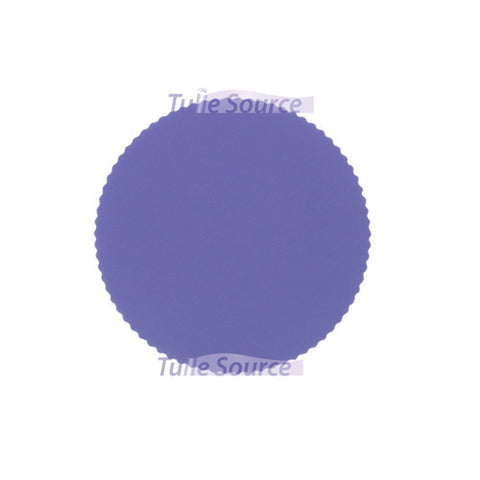 Scalloped Tulle Circles in Periwinkle