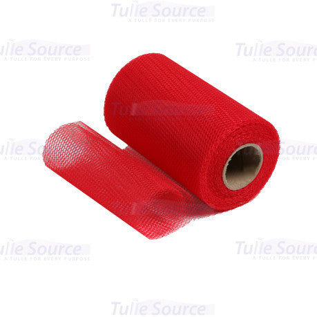 Red Nylon Netting Fabric