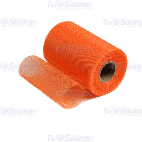 Shrimp Orange Nylon Netting Fabric
