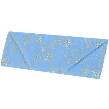 Cotillion Blue Organza with Gold Snowflake