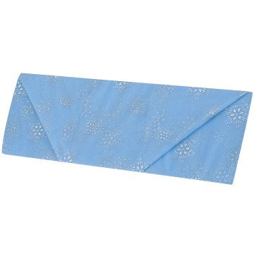 Cotillion Blue Organza with Silver Snowflake