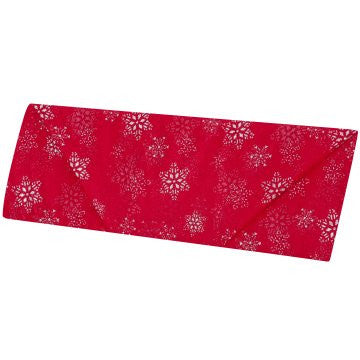 Red Organza with Silver Snowflake