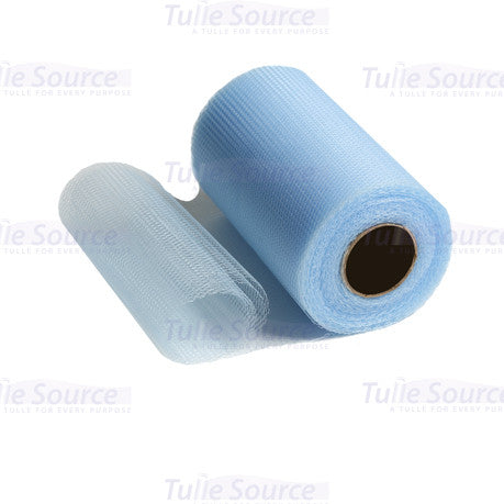 Soft Blue Nylon Netting Fabric