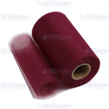 Wine (Burgundy) Nylon Netting Fabric