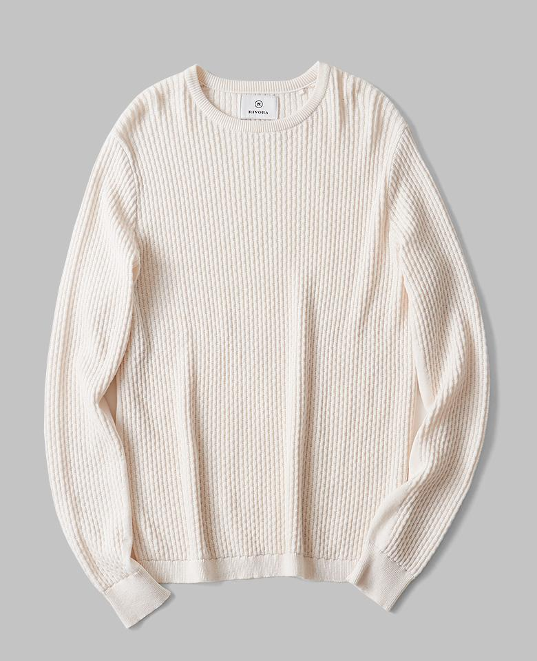CHAIN CABLE Round Neck Summer Knit