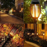 GARDEN HEROES™ Solar Powered Flickering Torch Garden Lights