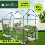 GARDEN HEROES™ 1.9x1.2x1.9M Walk In Greenhouse