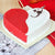 Red & White Heart Cake