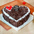 Yummy Heart Shape Mothers Day Black Forest Cake