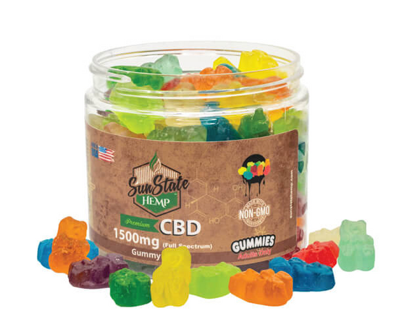 CBD FULL SPECTRUM GUMMY CLEAR BEARS 16OZ 1500MG
