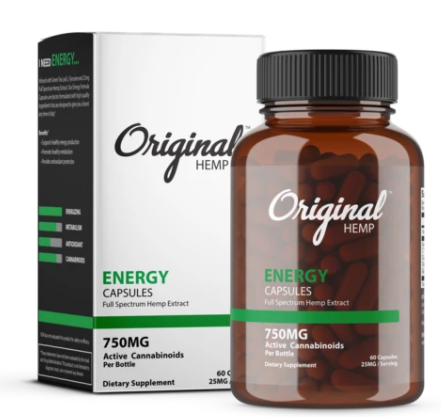 Energy Capsules (750mg) | Full Spectrum Hemp Extract
