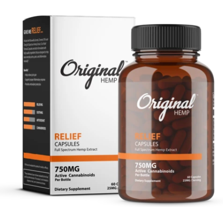 Relief Capsules (750mg) | Full Spectrum Hemp Extract