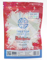 Delta 8 Gummies TreeTop 300mg Rainbow