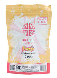 Delta 8 Gummies TreeTop 300 mg Peach Rings