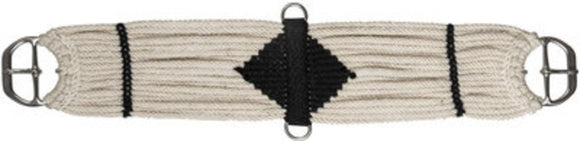 Mohair Blend Straight Cinch, Cream/Black