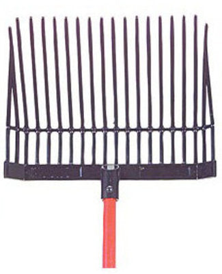 "Jeffers Manure & Bedding Fork (18 tines) w/ 48"" Handle"