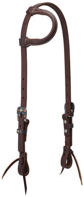 Working Tack Chevron Designer Hardware Sliding Ear Headstall