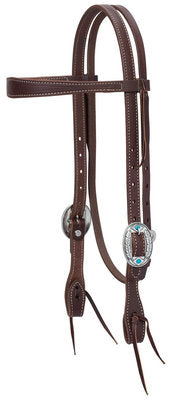 Working Tack Feather Designer Hardware Browband Headstall