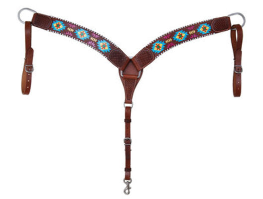 Rafter T Painted Aztec Contoured Breast Collar