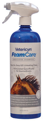 Vetericyn FoamCare Medicated Equine Shampoo, 32 oz