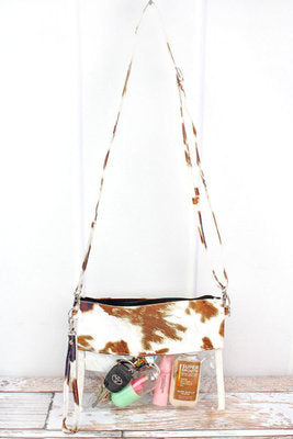"""Til the Cows Come Home"" Clear Crossbody Purse"