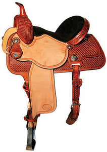 Molly Powell Traditions Cowgirls Barrel Saddle, Wide Tree, Mahogany