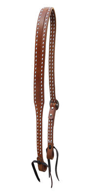 Oxbow Split Ear Headstall with Buckstitch, Harness
