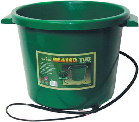 16 Gallon Heated Bucket, Green