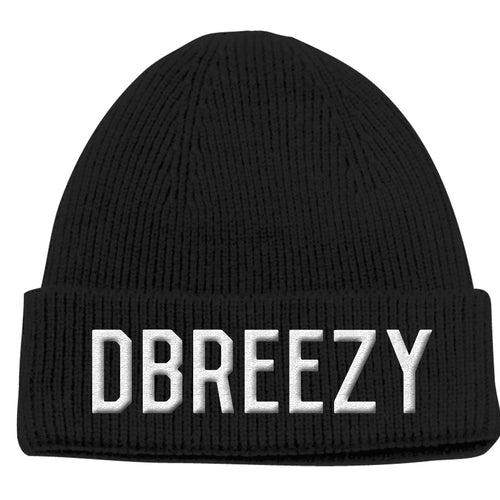 D BREEZY Embroidered Logo Beanie