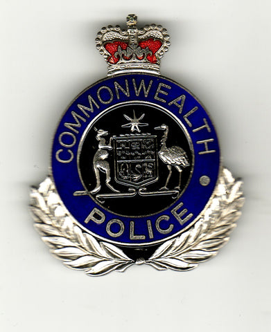 australia police cap badge COMMONWEALTH old maker marked
