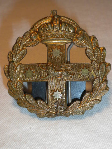 AUSTRALIA NSW 1900's STAFF CORP BRASS BADGE