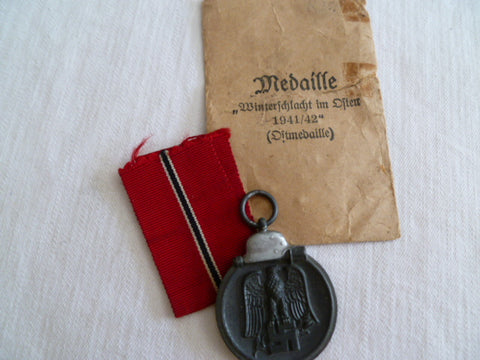 GERMAN RUSSIAN FRONT MEDAL W/PACKET